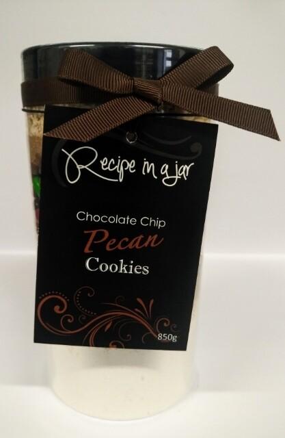 Recipe in a Jar - Choc Chip Pecan Cookie Mix 850g