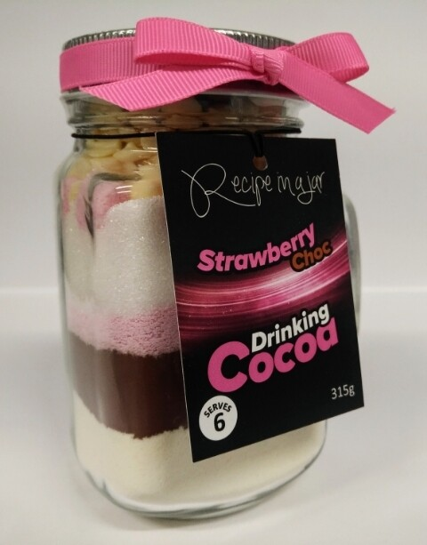Recipe in a Jar - Drinking Cocoa (Strawberry) 315g