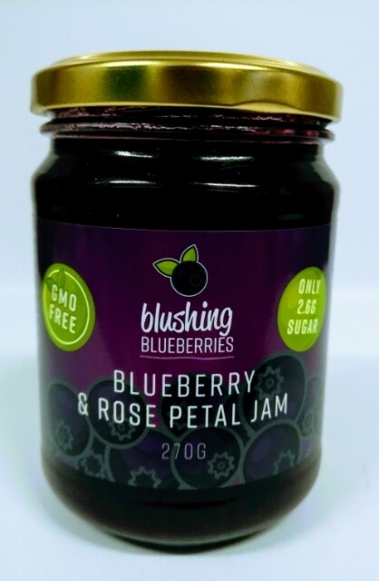 Blushing Blueberries Blueberry & Rose Petal Jam 270g