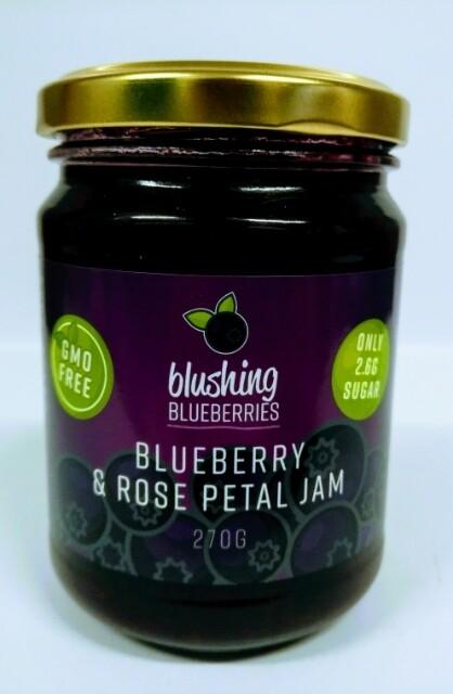 Blushing Blueberries Blueberry & Rose Petal Jam 270g