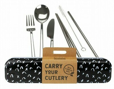 RetroKitchen Carry Your Cutlery Set - Criss Cross Design