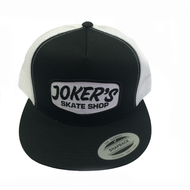 Jokers Classic Logo Patch Mesh Hat White/Black