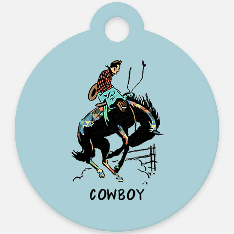 Cowboy Rodeo Horse ID Tag Halter Tag Bridle Tag Saddle Tag