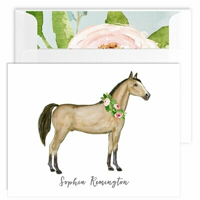 Watercolor Horse Folded Note Cards