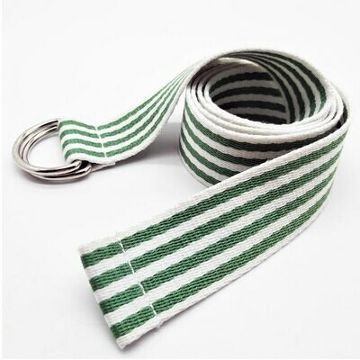 Candy Stripes D-Ring Woven Riding Belts (6 Colors)