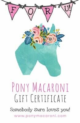 Pony Macaroni Gift card