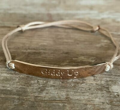 Rose Gold Giddy Up Barn friendship Bracelet