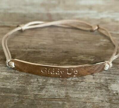 Rose Gold Giddy Up Barn friendship Bracelet