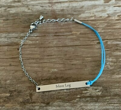 Silver Blue More Leg friendship Bracelet