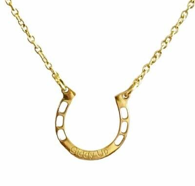 Giddy Up Horseshoe Necklace