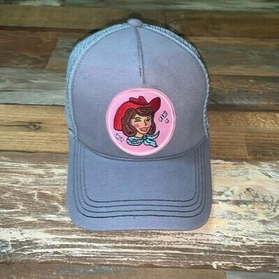 Gray Cowgirl Trucker Hat - Auburn
