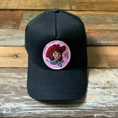 Black Cowgirl Trucker Hat - Auburn