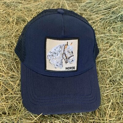 Blue Horse Trucker Hat
