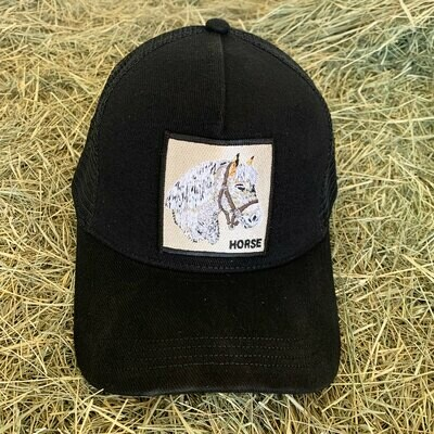 Black Horse Trucker Hat