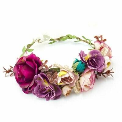 Burgundy Floral Crown