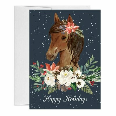 Christmas Horse Watercolor Holiday Cards