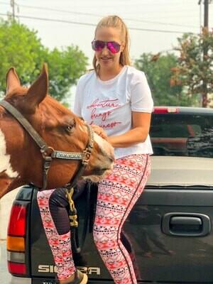 Horses and Heels' Desert Dreams Schooling Tights