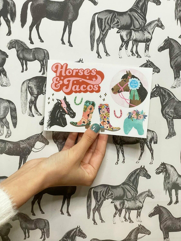 Pony Macaroni Sticker Sheet