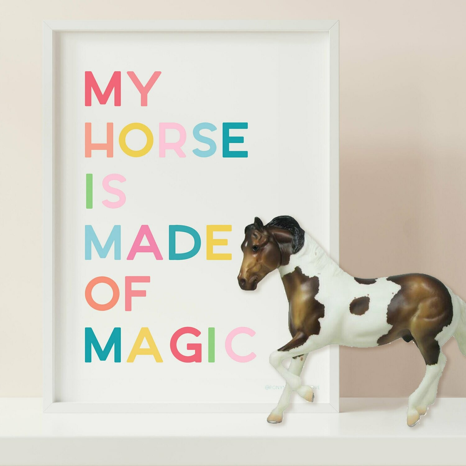 My Horse is Made of Magic Digital Download 8x10 print