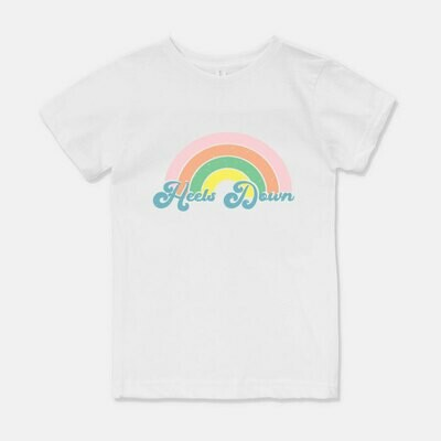Heels Down Rainbow Kids Tee