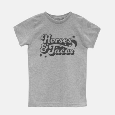 Horses and Tacos Kids Tee