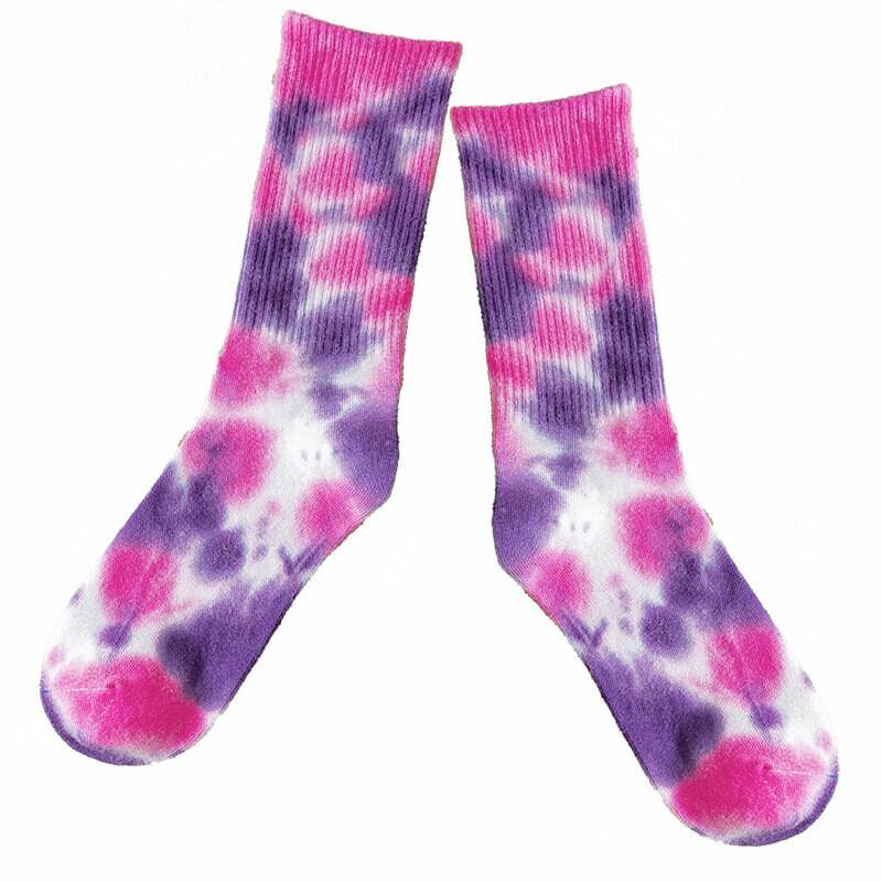 Tie Dye Cotton Crew Paddock Boot Socks