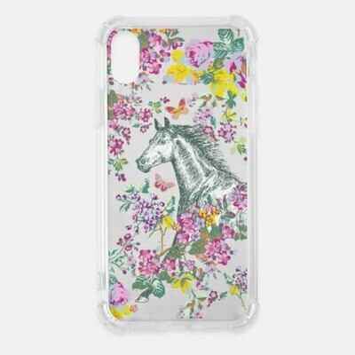 Floral Butterfly Garden Horse Clear Cell Phone Cover Case