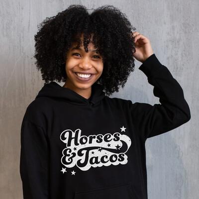 Horses and Tacos Black Hoodie Sweatshirt