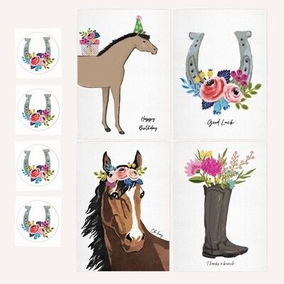 Set of 4 Barn Friend Cards