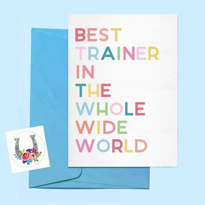 Best Trainer Ever Card