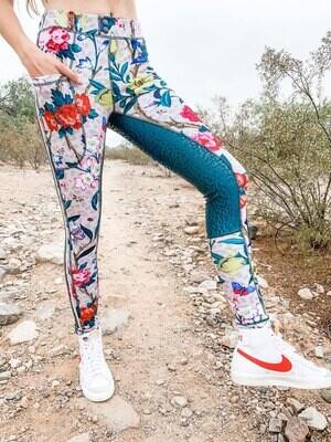Leo Floral Glam Rockstar Schooling Tights