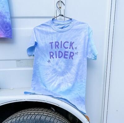 Trick Rider Tie dye Tee in Ocean