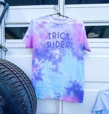 Trick Rider Tie dye Tee in Popsicle