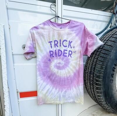 Trick Rider Tie dye Tee in Pink Banana