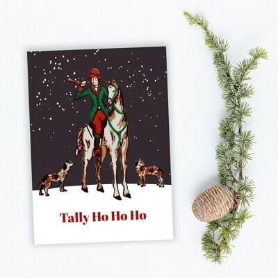 Tally Ho Ho Ho Holiday Cards