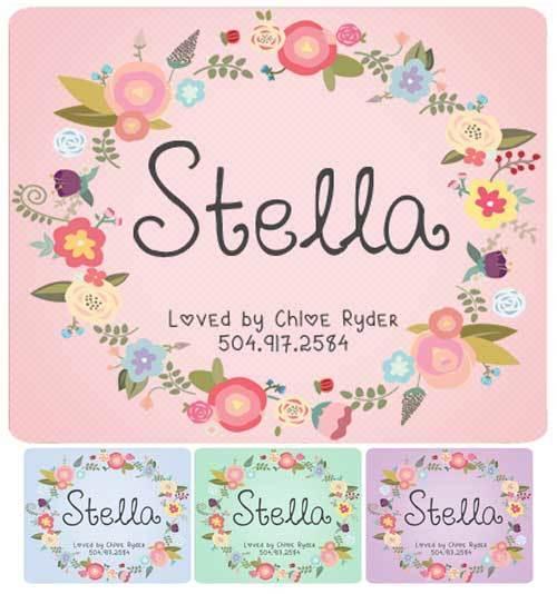 Custom Wreath Stall Name Plate