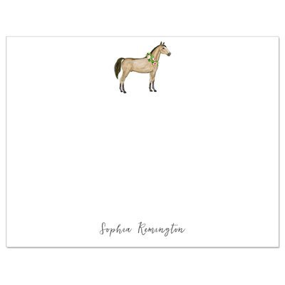 Watercolor Horse Flat Note Cards