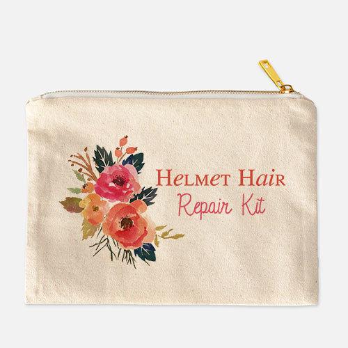 Helmet Hair Cosmetic Bag