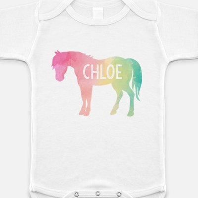 Custom Rainbow Pony Onesie