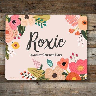 Custom Pink Garden Stall Name Plate