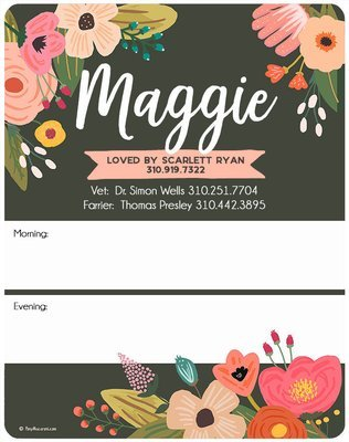 Custom Charcoal Garden Floral Stall Sign