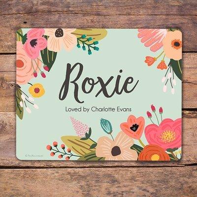 Custom Mint Garden Stall Name Plate