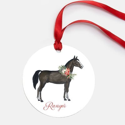Round Metal Horse Ornament