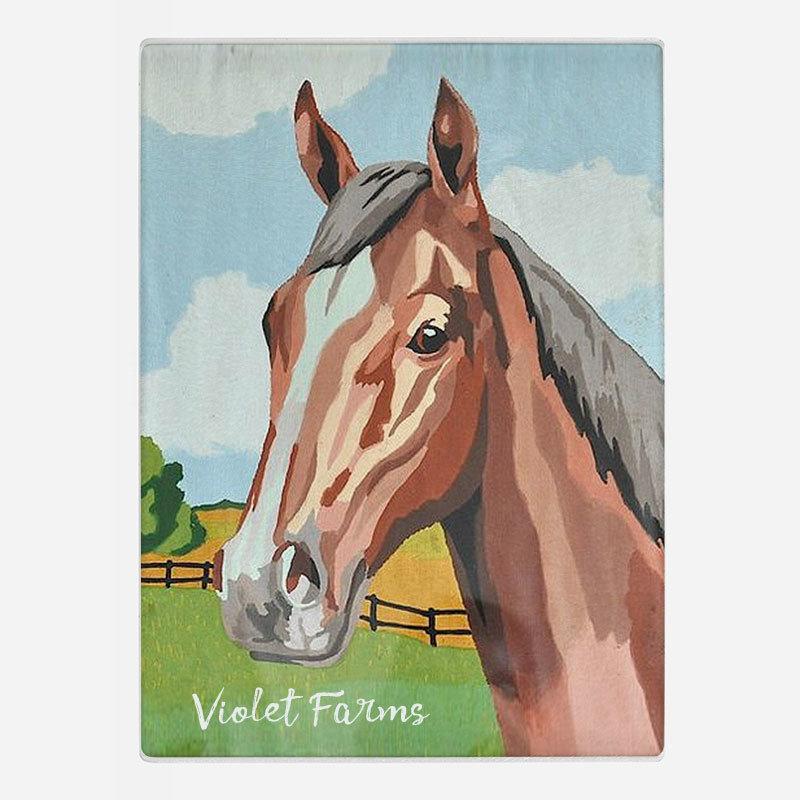 Handsome Horse Glass Cutting Board