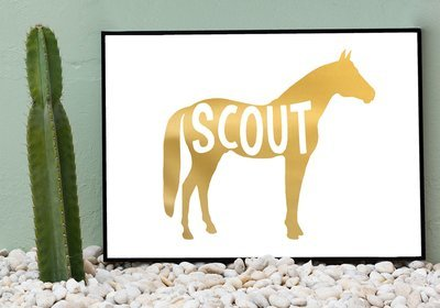 Equestrian Horse Name Foil Art Print