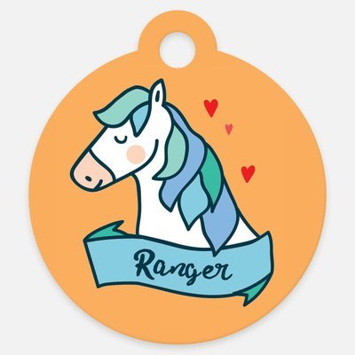 Blue Magical Horse ID Tag Halter Tag Bridle Tag Saddle Tag
