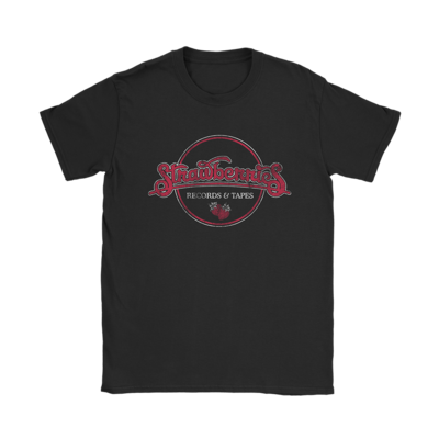 Strawberries Records and Tapes T-Shirt