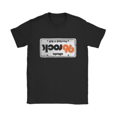 96 Rock Upside Down License Plate T-Shirt