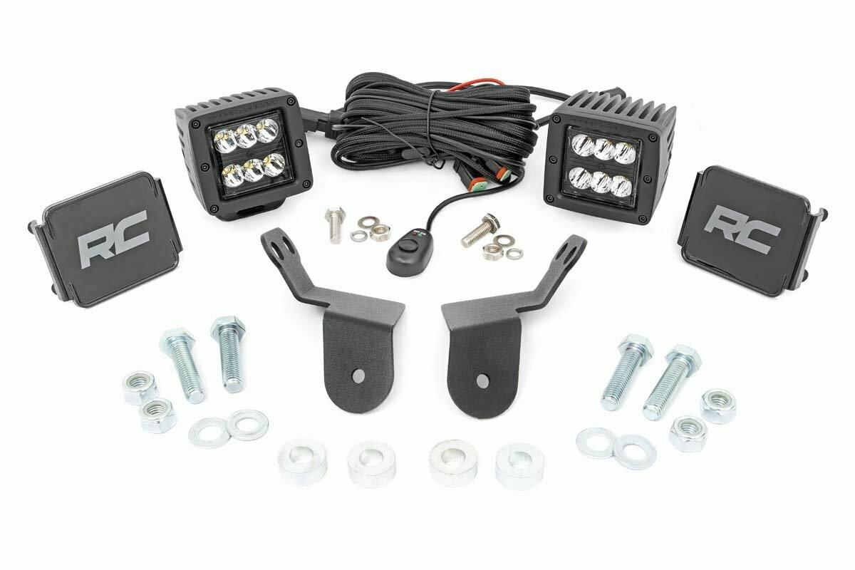 Honda Dual LED Cube Kit   2in Black Series (16-20 Pioneer)
