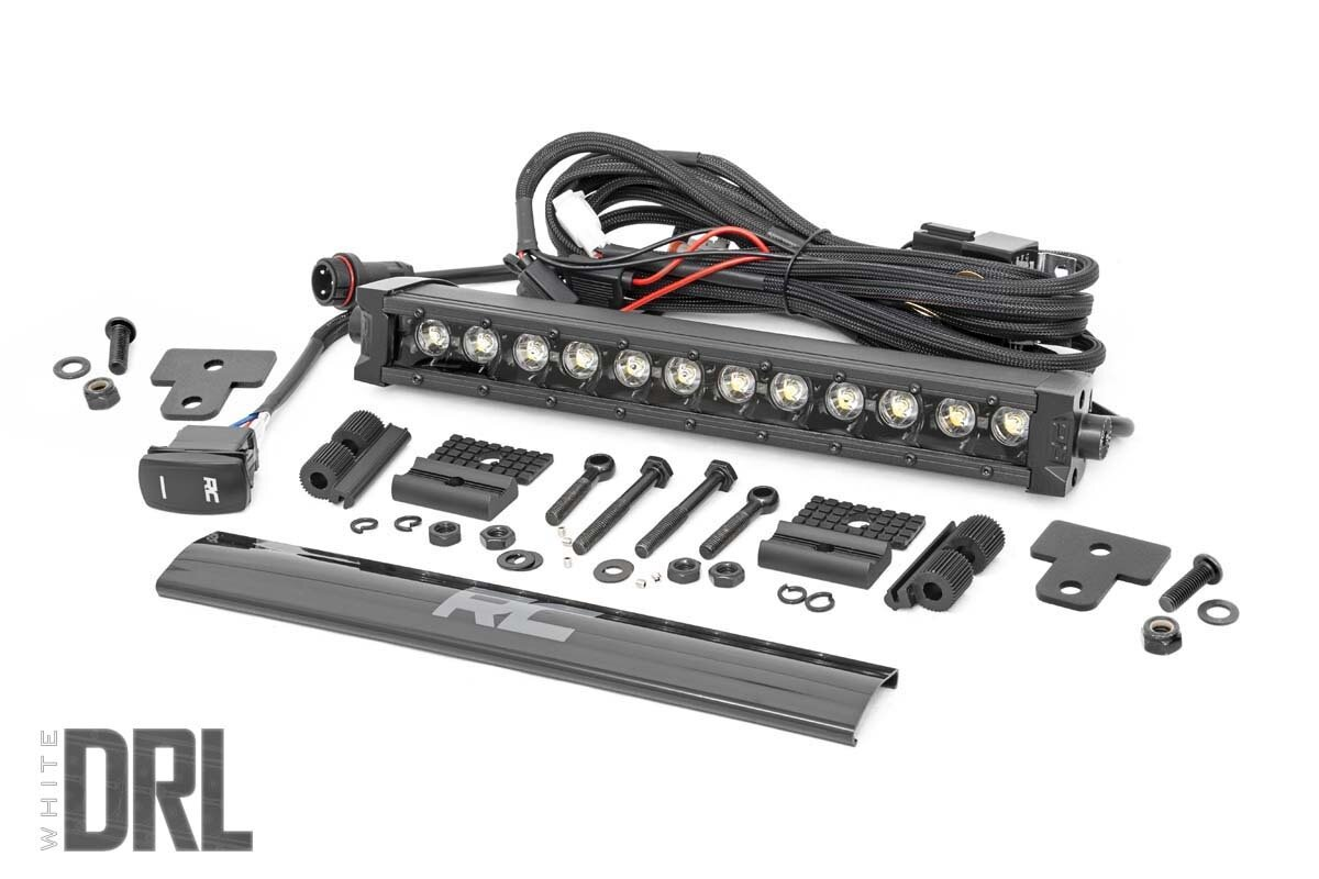 Can-Am Defender 12-Inch Recessed Bumper LED Kit | Black Series w/ White DRL (16-20 Defender)